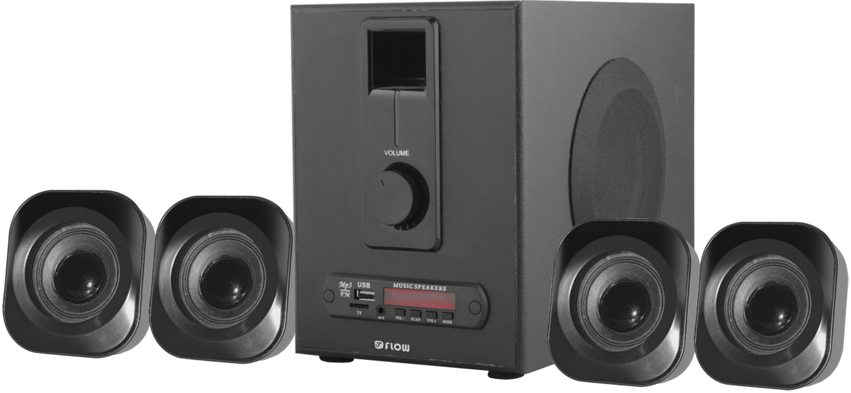 buy flow 4 1 bluetooth speaker system usb fm mmc remote aux