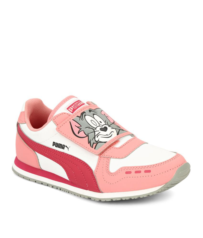 c04a5ac7fafd Puma Pink Cabana Racer Tom   Jerry Kids Boy Sports Shoes Price in India- Buy  Puma Pink Cabana Racer Tom   Jerry Kids Boy Sports Shoes Online at Snapdeal