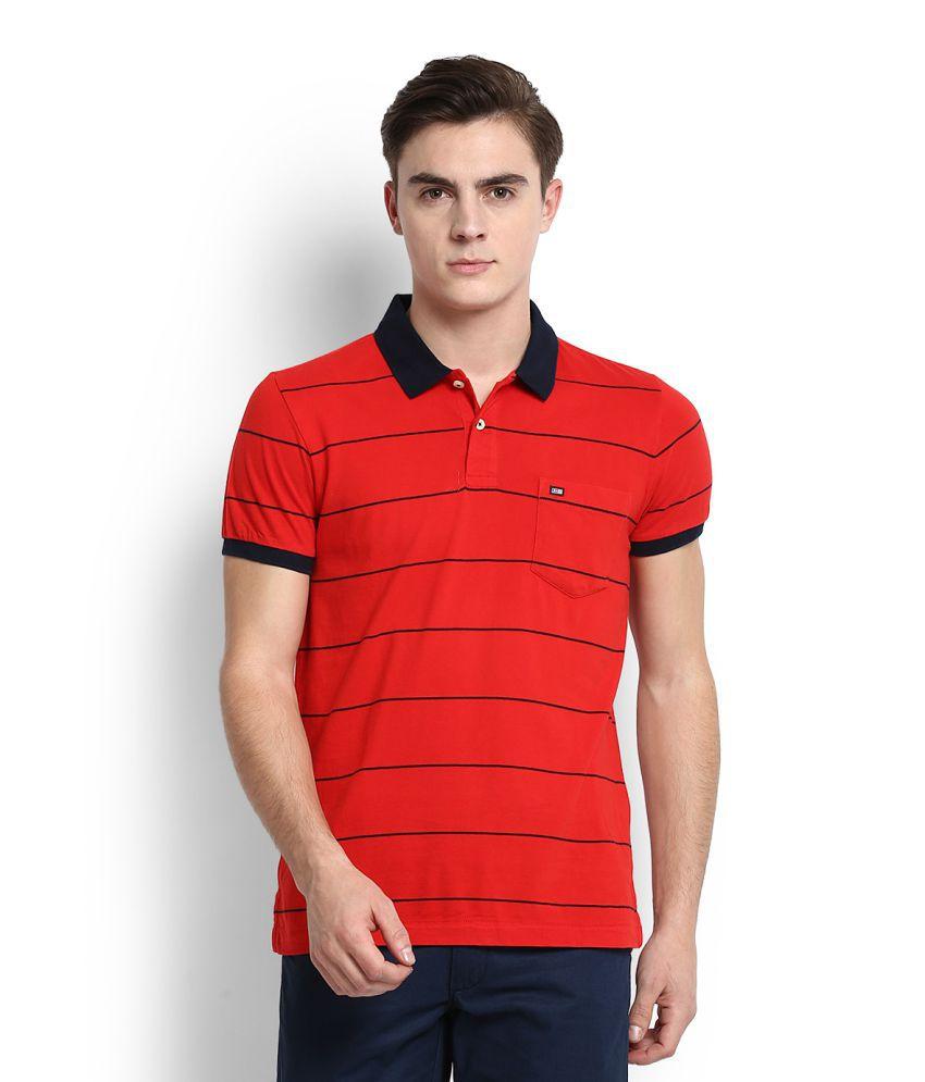 Arrow Sports Red Polo T-Shirt