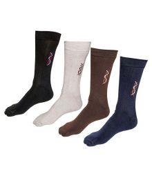 Indiweaves Cotton Socks Pack Of 4 Socks