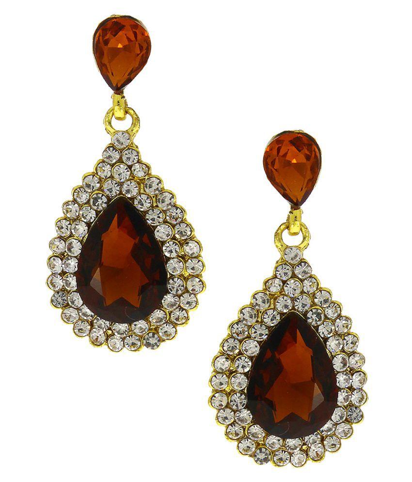 Anuradha Art Multicolour Classy Delicate Designer Party Wear Fancy Hanging Earrings for Women