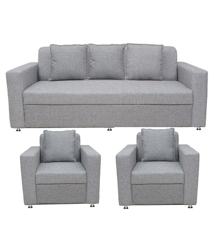 Zuari Sofa Set Online: Buy BLS Lexus 3+1+1 Sofa Set