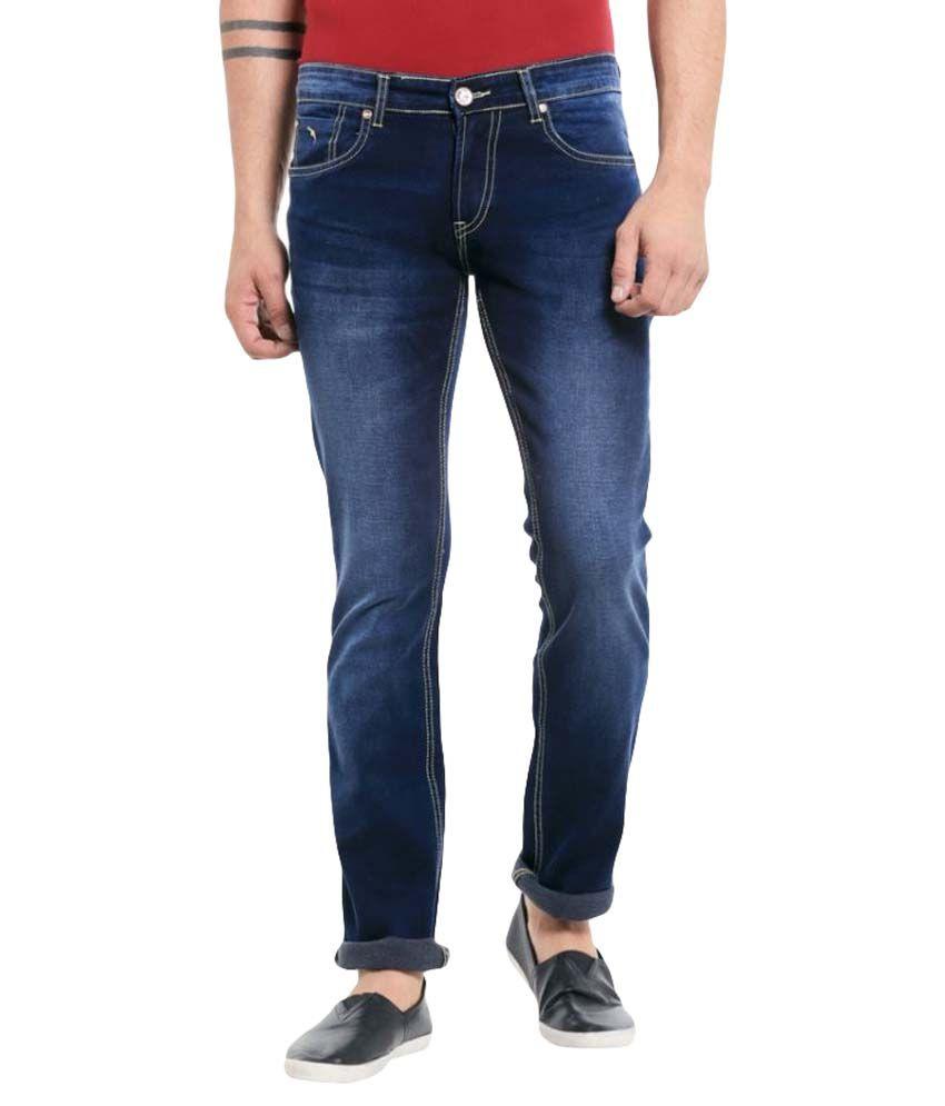 Mayback Blue Regular Fit Jeans