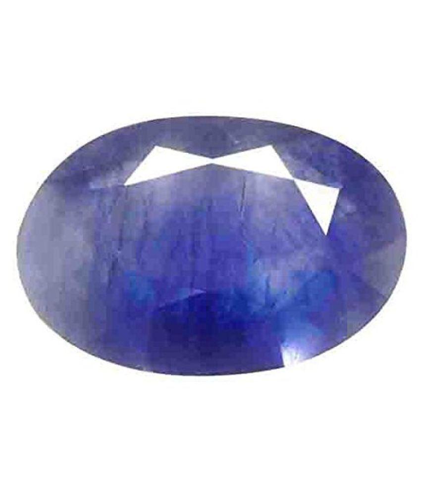 Blue sapphire (Neelam) Certified Natural Gemstone 5.62 Carat/ 6.25 Ratti