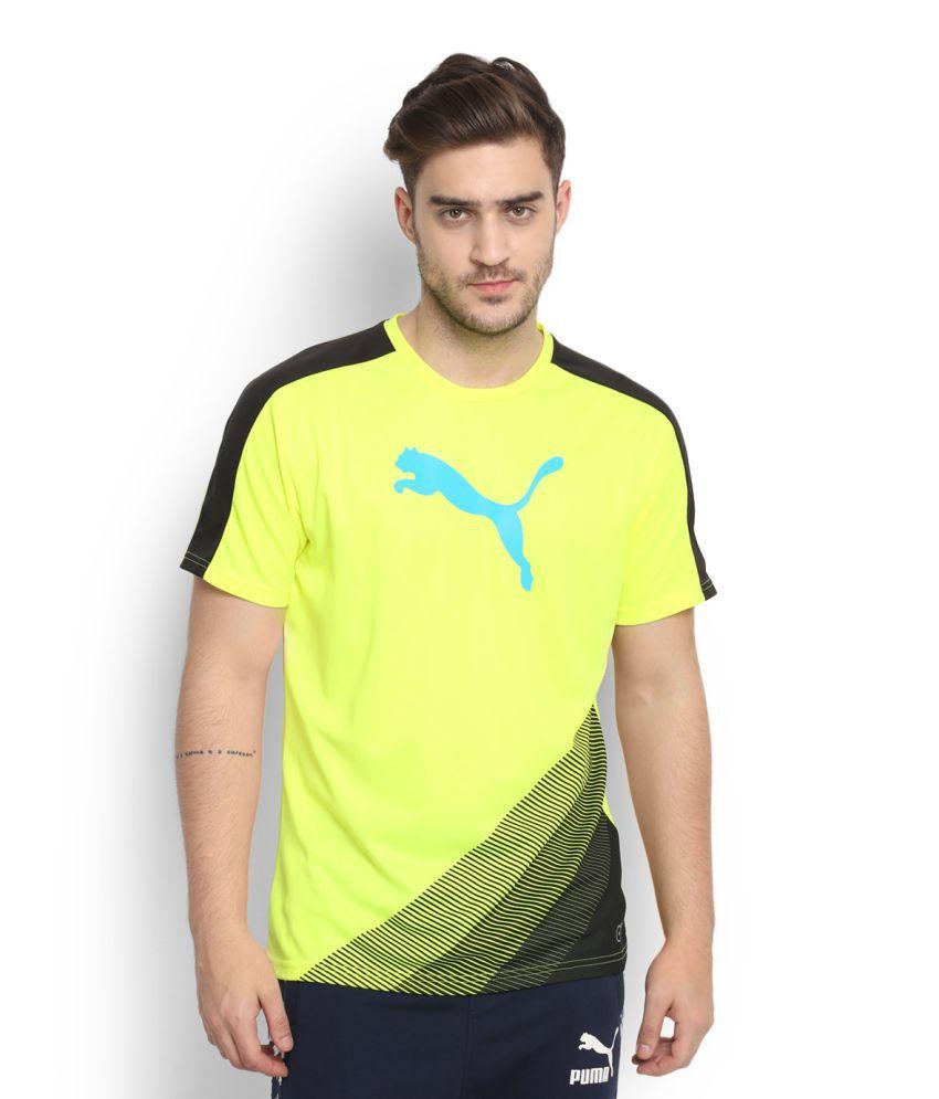 Puma Yellow Round T-Shirt