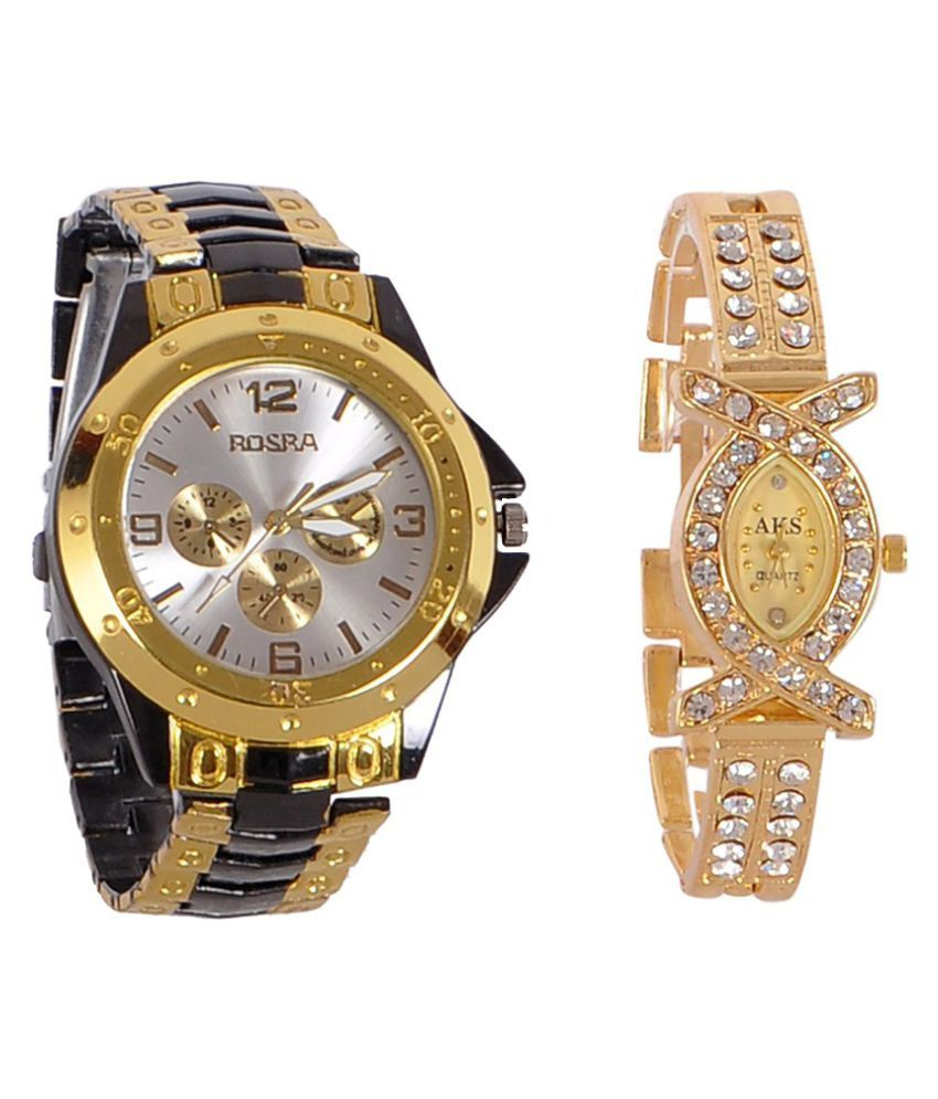 Rosra Multicolor Analog Watches - Pack of 2 Price in India: Buy ...