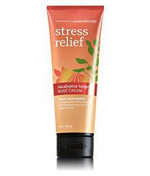 Bath & Body Works Aromatherapy Stress Relief Eucalyptus Tangerine Day Cream 226 Gm