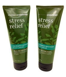 Bath & Body Works Aromatherapy Stress Relief Eucalyptus Spearmint Day Cream 226 Gm Pack Of 2