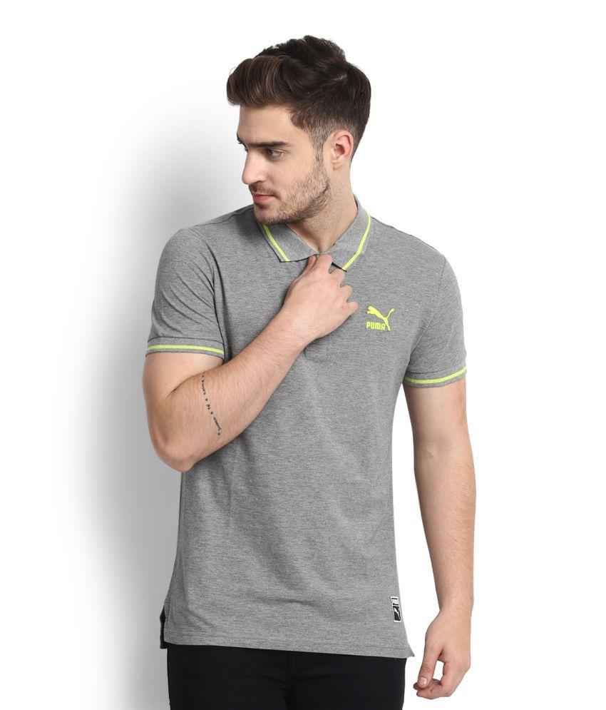 Puma Grey Polo T-Shirt