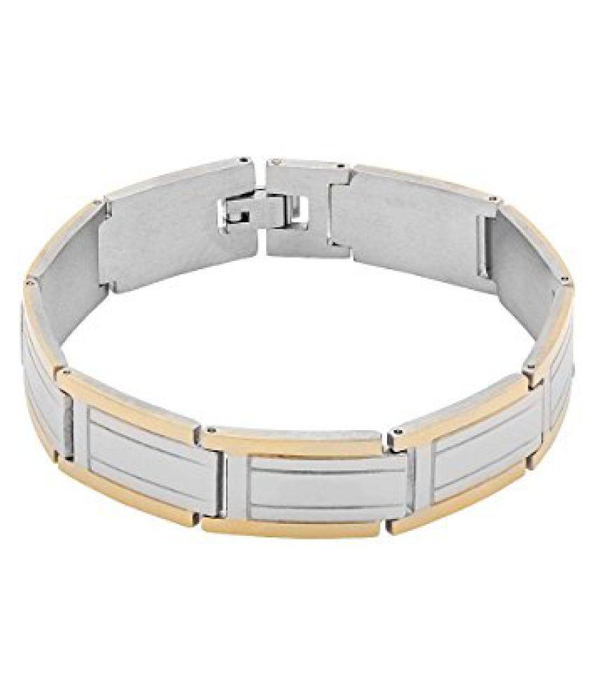 Voylla Stylish Dual Toned Bracelet For Men