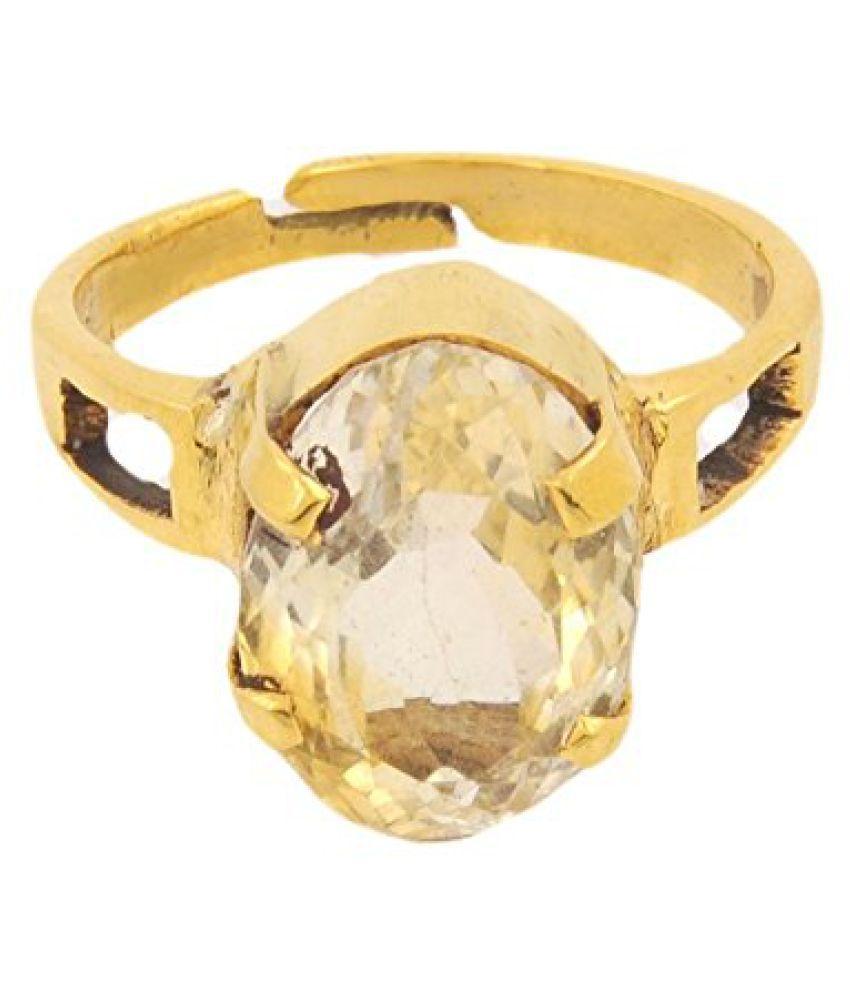 7.25 Ratti Citrine Substitute Yellow Sapphire Adjustable Panch Dhatu Ring