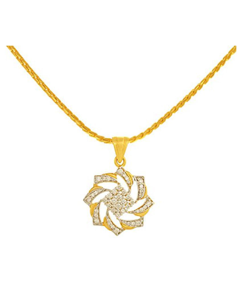 P.N.Gadgil Jewellers 18K Yellow Gold And Diamond Pendant