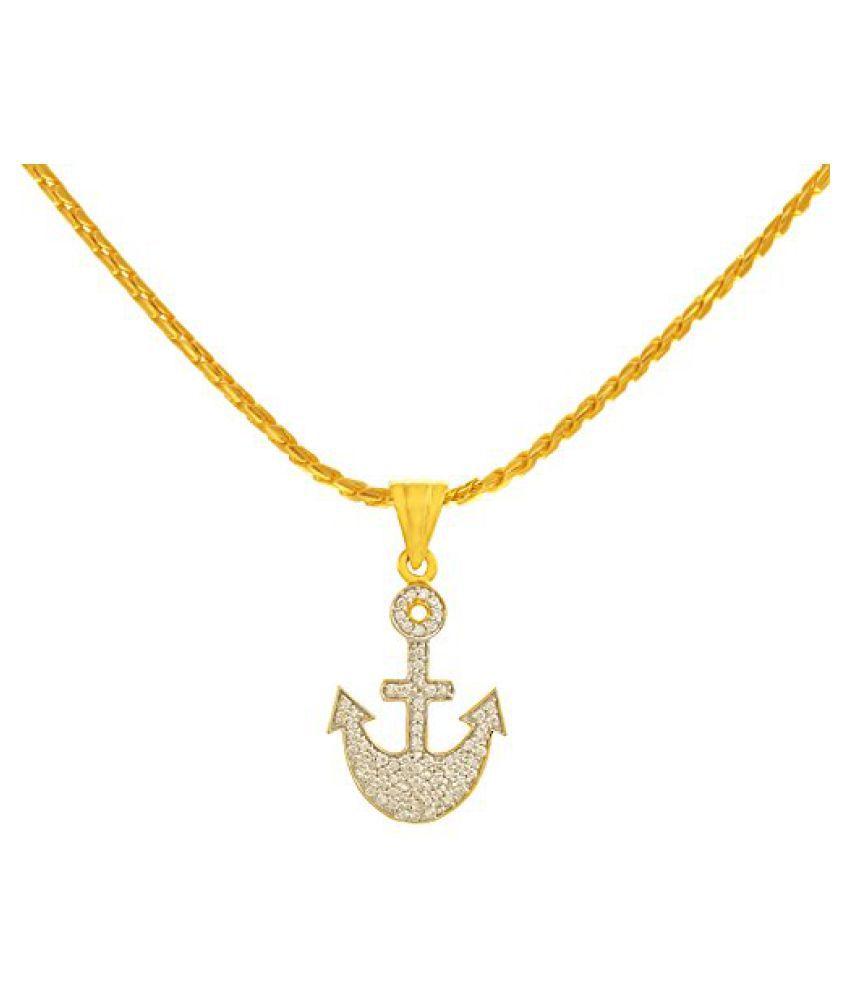 P.N.Gadgil Jewellers 18k Yellow Gold and Diamond Pendant