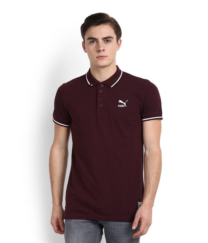 Puma Brown High Neck T-Shirt
