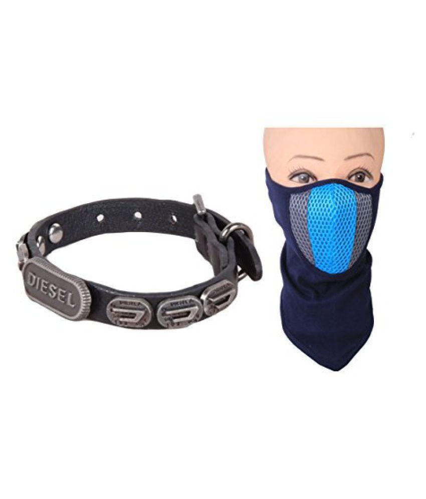 Sushito Cool Black Wrist Band Combo Face Mask