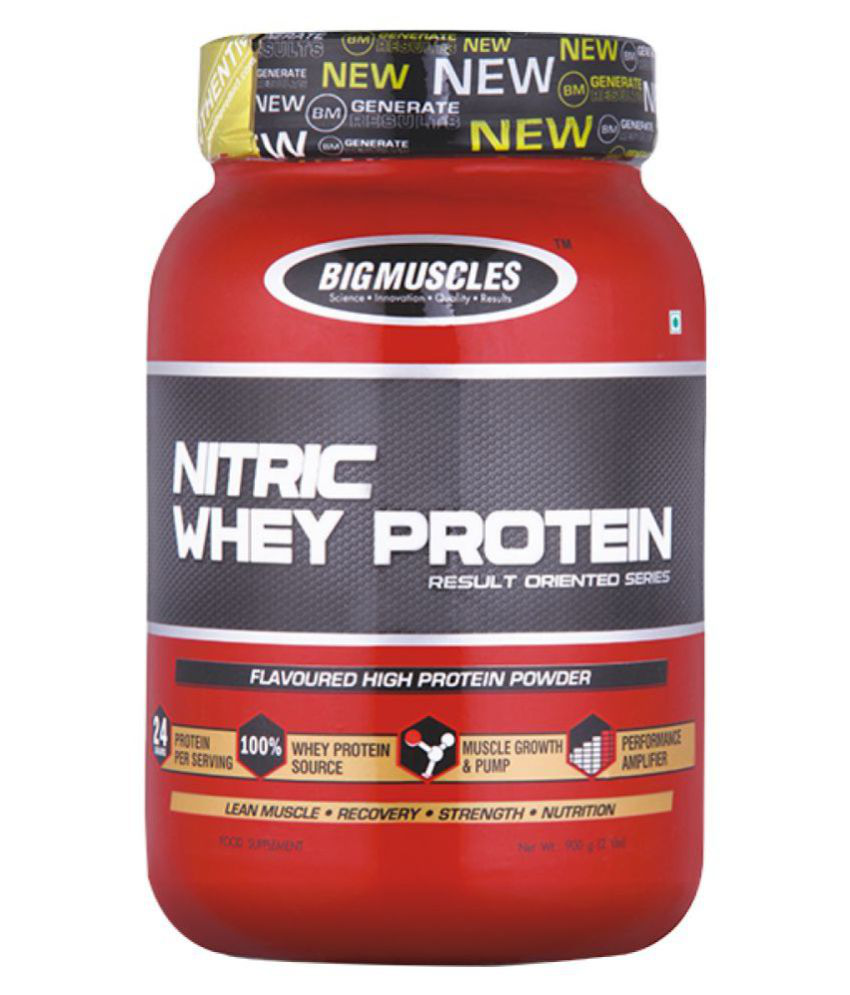 Big Muscles Nitric Whey Protein 1 Kg Chocolate  available at snapdeal for Rs.2475