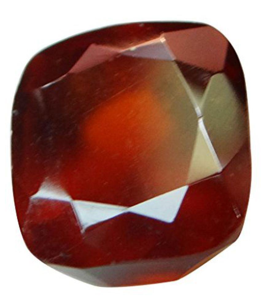 HESSONITE GARNET 7.11 ct. / 7.9 Ratti Natural & Certified Hessonite Garnet (Gomed) GEMSTONEBy ARIHANT GEMS AND JEWELS