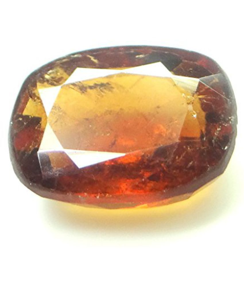 HESSONITE GARNET 5.81 ct. / 6.46 Ratti NATURAL & IIGS CERTIFIED HESSONITE GARNET (GOMED) ASTROLOGICAL GEMSTONEBy ARIHANT GEMS AND JEWELS