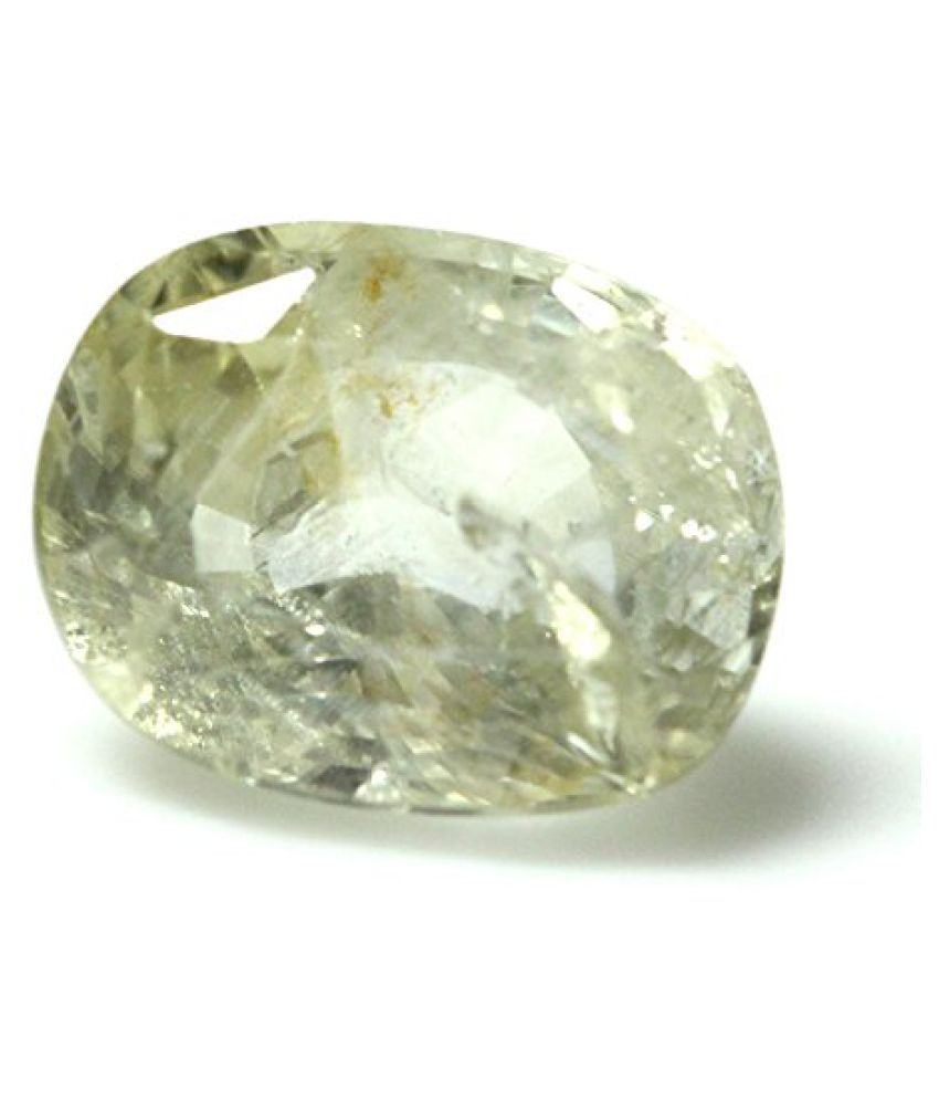PUKHRAJ LOOSE 100% NATURAL & CERTIFIED 5.83 ct. YELLOW SAPPHIRE BIRTHSTONE BY ARIHANT GEMS AND JEWELS