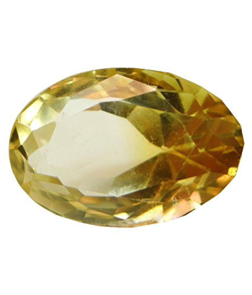 6.86 ct. / 7.62 Ratti Natural & Certified CITRINE (SUNHELLA) BIRTHSTONE BY ARIHANT GEMS & JEWELS BY ARIH...