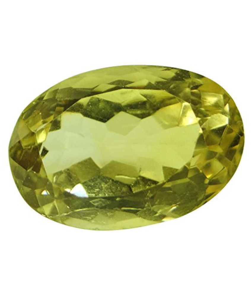 Arihants 7.78 ct. / 8.64 Ratti PURE & IIGS CERTIFIED CITRINE (SUNHELLA) ASTROLOGICAL GEMSTONE