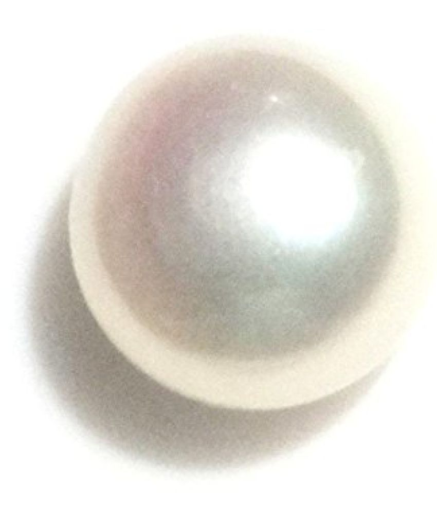 PEARL 6.72 ct. / 7.47 Ratti PURE & IIGS CERTIFIED PEARL ASTROLOGICAL BIRTHSTONE BY ARIHANT GEMS AND JEWELS