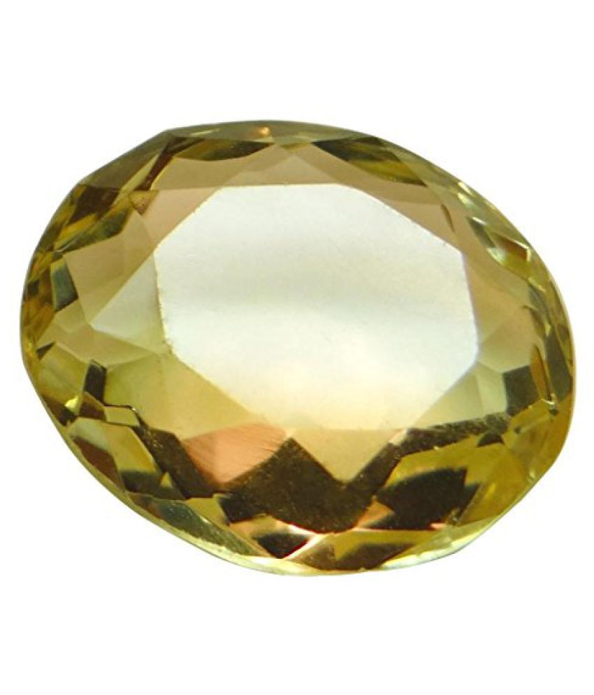 6.08 ct. / 6.75 Ratti Natural & Certified CITRINE (SUNHELLA) BIRTHSTONE BY ARIHANT GEMS & JEWELS