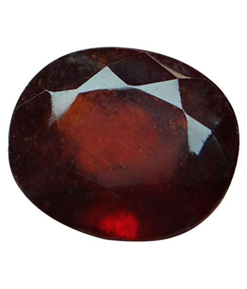 HESSONITE GARNET 5.25 ct. / 5.83 Ratti Natural & Certified Hessonite Garnet (Gomed) BIRTHSTONE By ARIHANT GEMS AND JEWELS