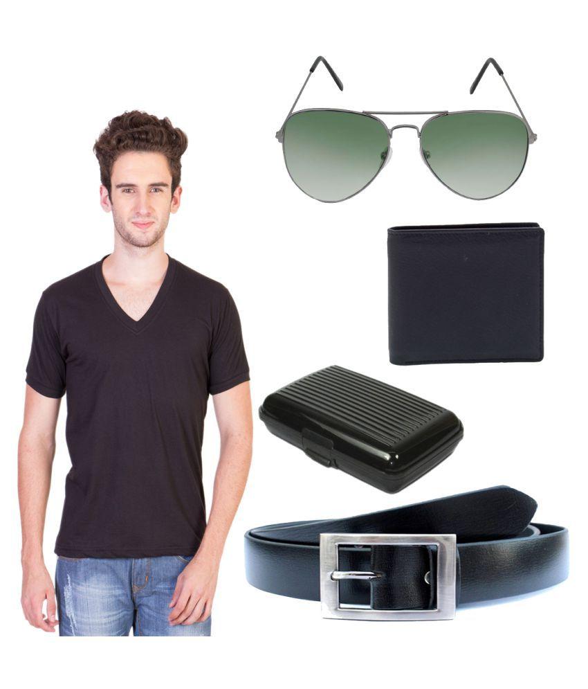 Knightly Fashion Black V-Neck T-Shirt