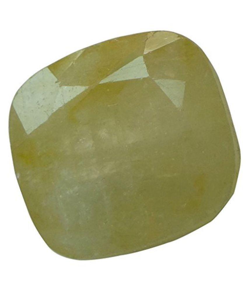 9.12 ct. / 10.13 Ratti Natural & Certified Yellow Sapphire (Pukhraj) BIRTHSTONE BY ARIHANT GEMS & JEWELS