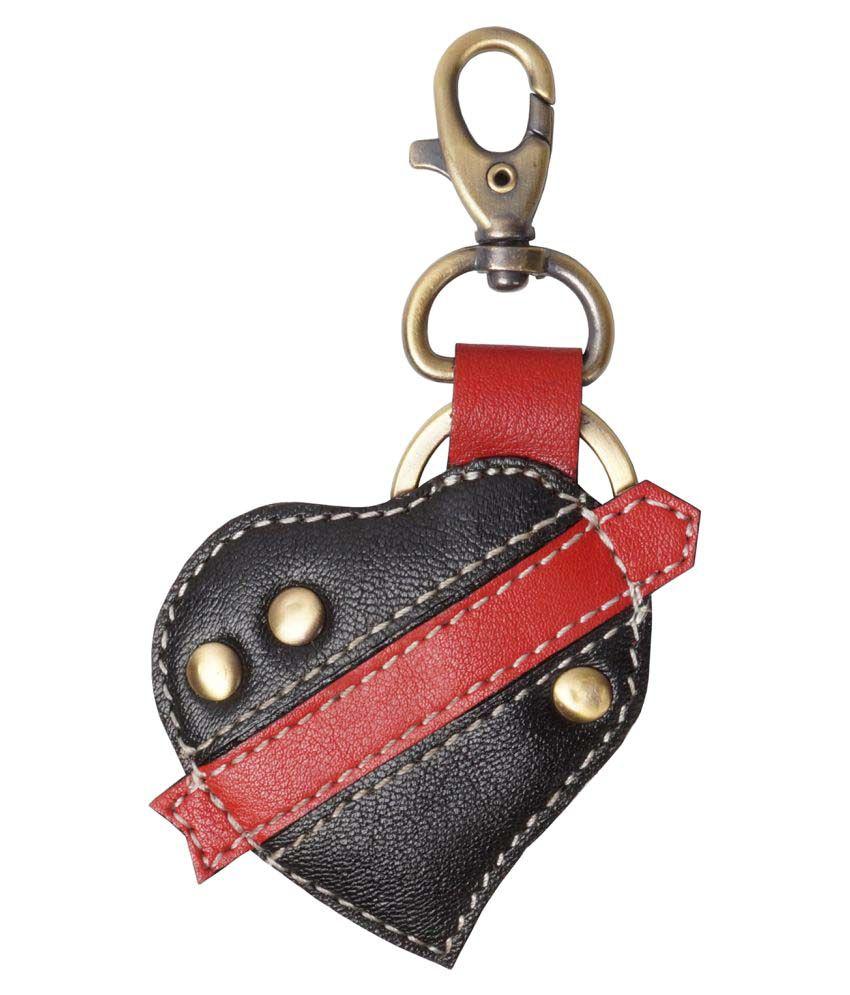 Clubb Valentine Heart Keychain (Black & Red)