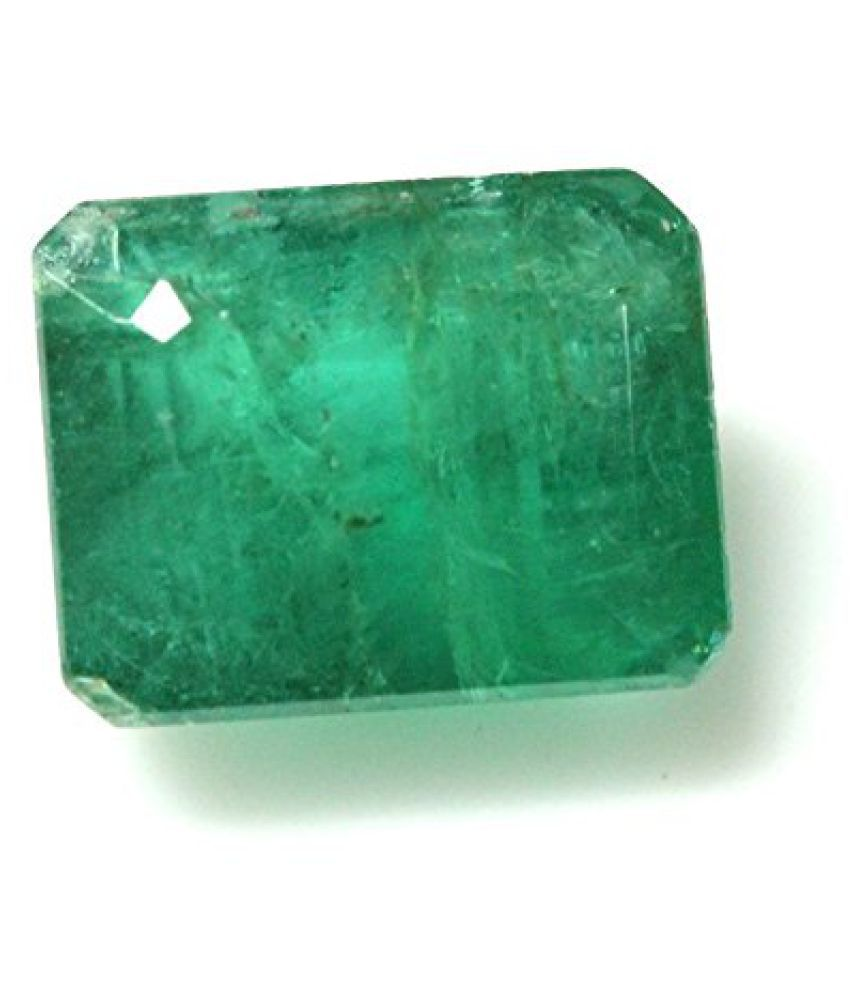 EMERALD PANNA LOOSE 100% NATURAL & CERTIFIED 4.37 ct.EMERALD BIRTHSTONE BY ARIHANT GEMS & JEWELS