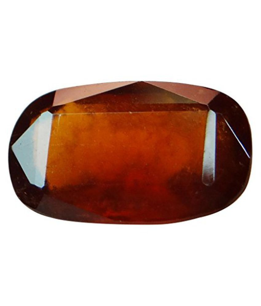 HESSONITE GARNET 5.48 ct. / 6.09 Ratti Natural & Certified Hessonite Garnet (Gomed) BIRTHSTONE By ARIHANT GEMS AND JEWELS