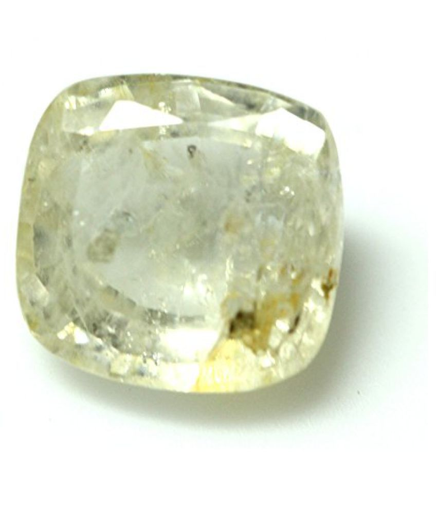 LOOSE 100% NATURAL & CERTIFIED 5.51 ct. YELLOW SAPPHIRE GEMSTONE