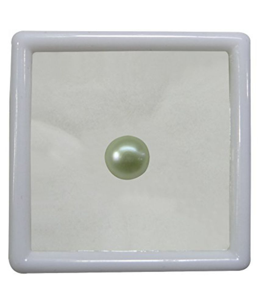 PEARL 7.42 ct. / 8.24 Ratti PURE & IIGS CERTIFIED PEARL (MOTI) ASTROLOGICAL BIRTHSTONE BY ARIHANT GEMS AND JEWELS