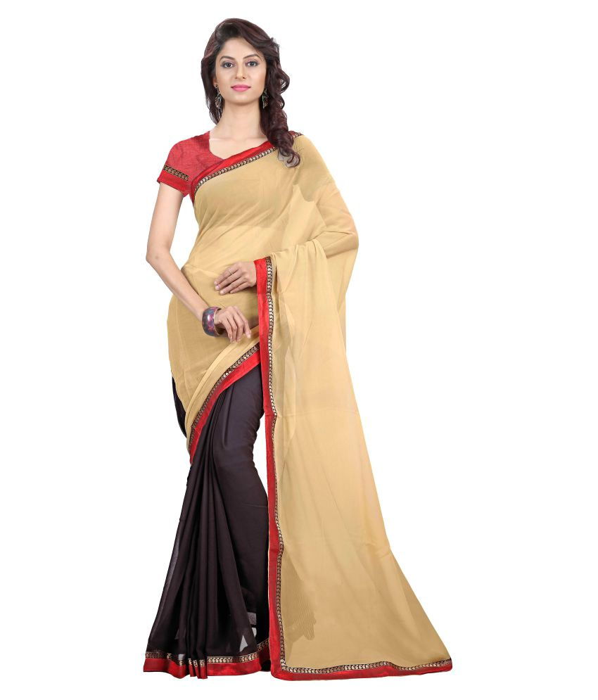 The Lugai Fashion Multicoloured Chiffon Saree