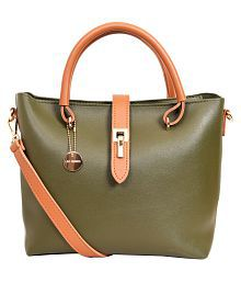 Lino Perros Green Faux Leather Shoulder Bag - 646107252694