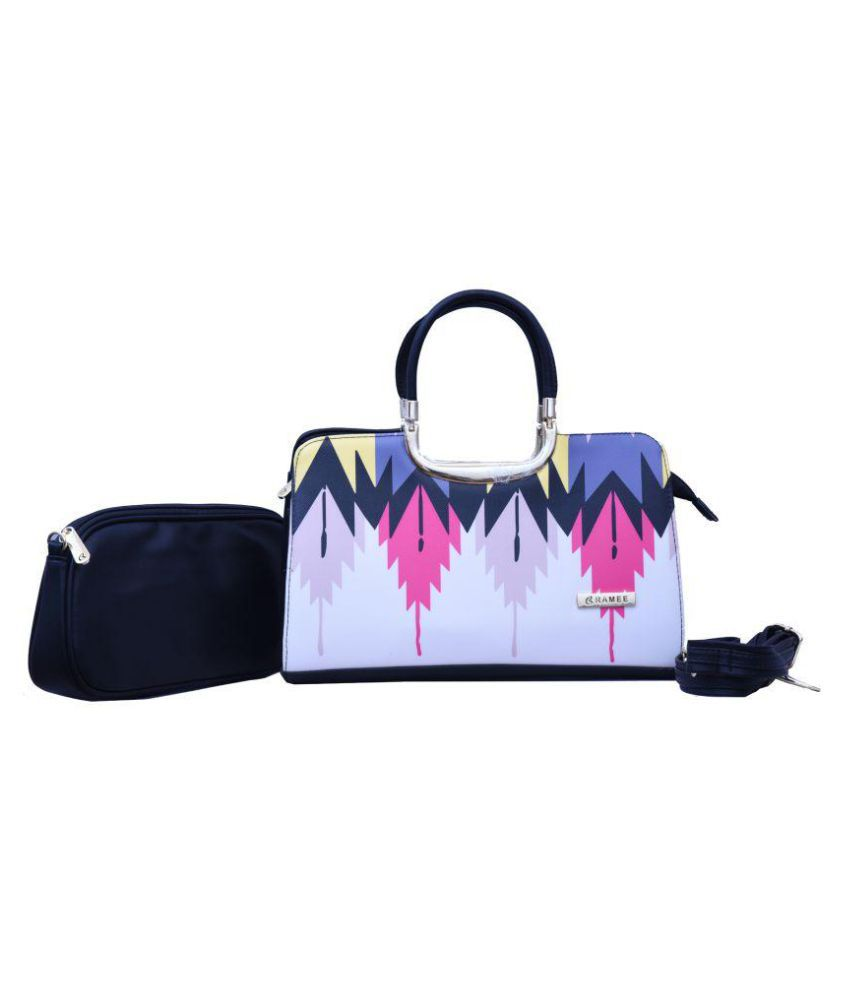 Ramee Multi Faux Leather Combo