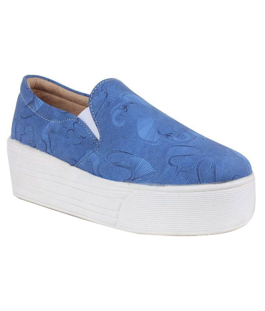 Steemo Blue Casual Shoes