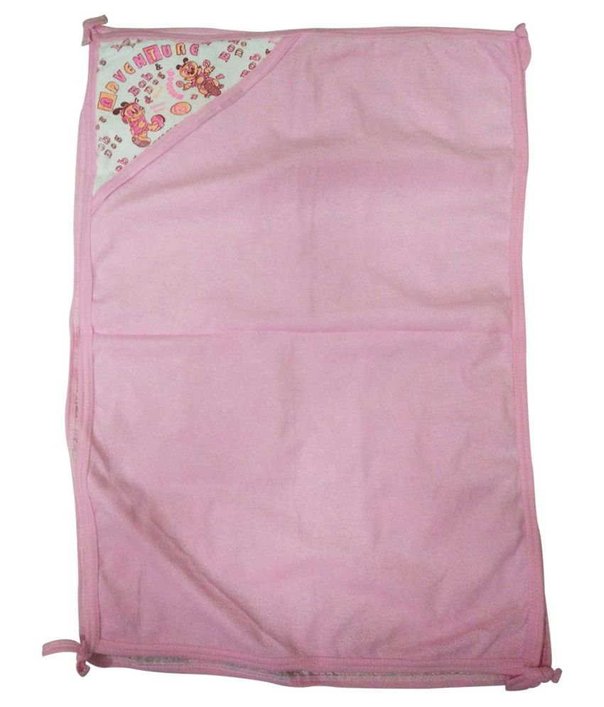 Gold Dust Pink Swaddle cloth Baby Wrap cum blanket ( 75 cm × 50 cm - 1 pcs)