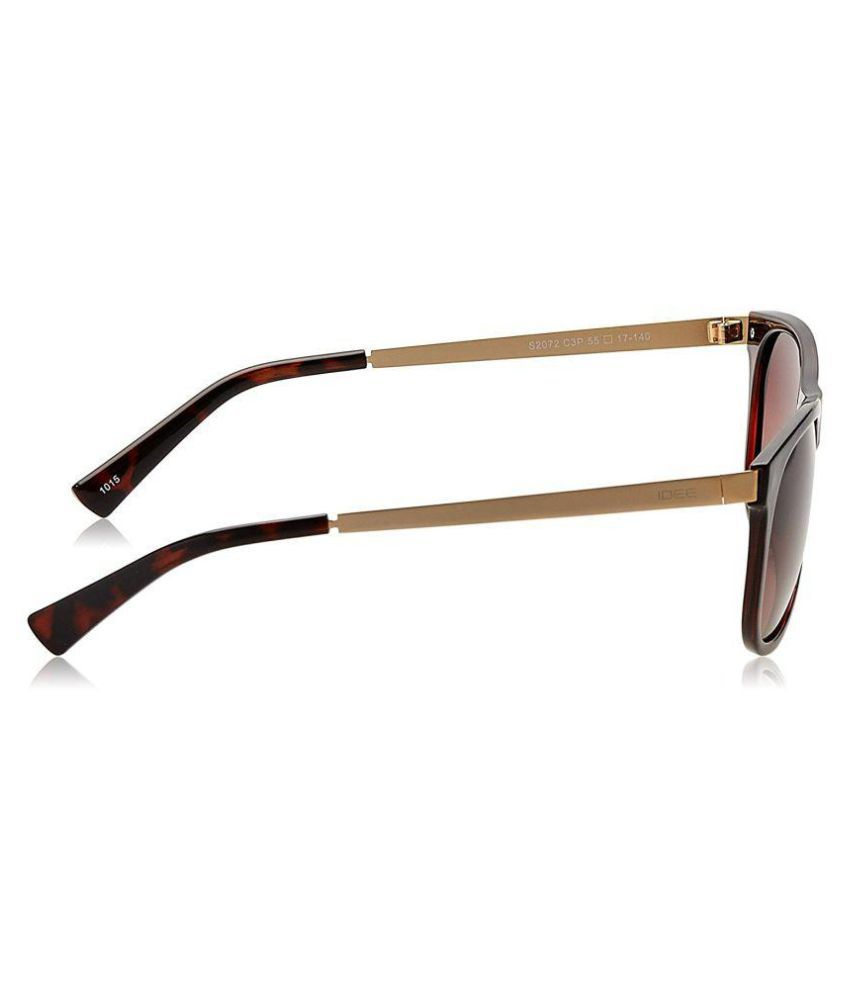 brown wayfarer sunglasses jb93  Idee Brown Wayfarer Sunglasses  S2072 C3P