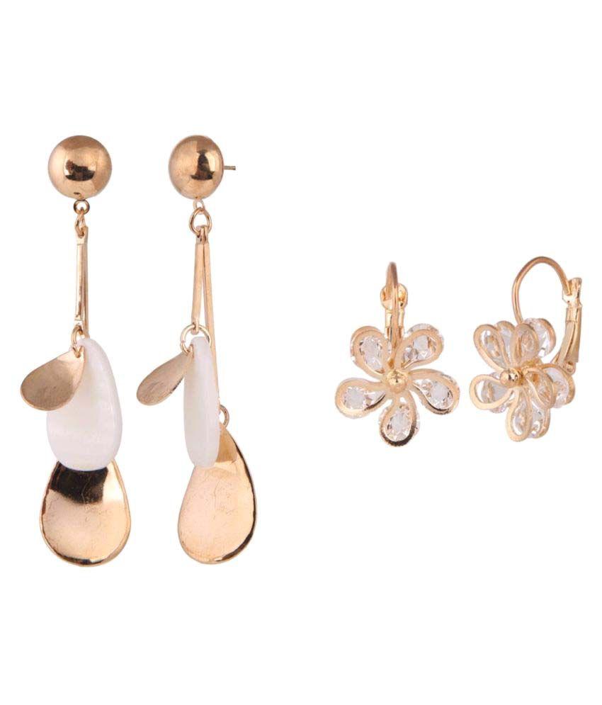 Efulgenz Combo of 2 Trendy Earrings for Girls and Women
