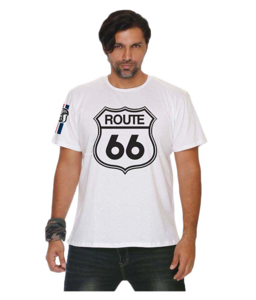 Grease Monkey White Cotton T-Shirt