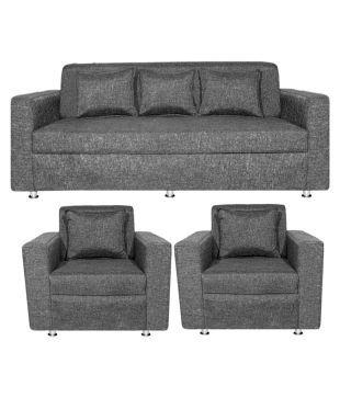 Bharat Lifestyle Lexus Fabric 3+1+1 Sofa Set Part 59