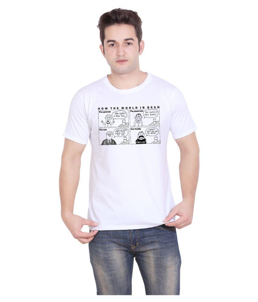 Tantra White Round T-Shirt