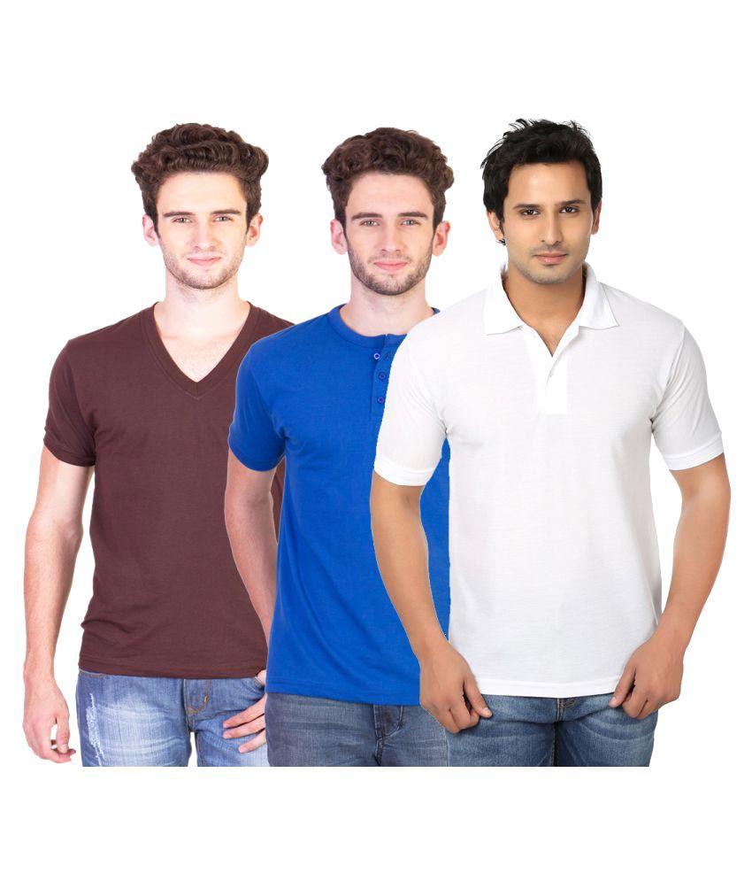 KeepSake Multi V-Neck T-Shirt Pack of 3