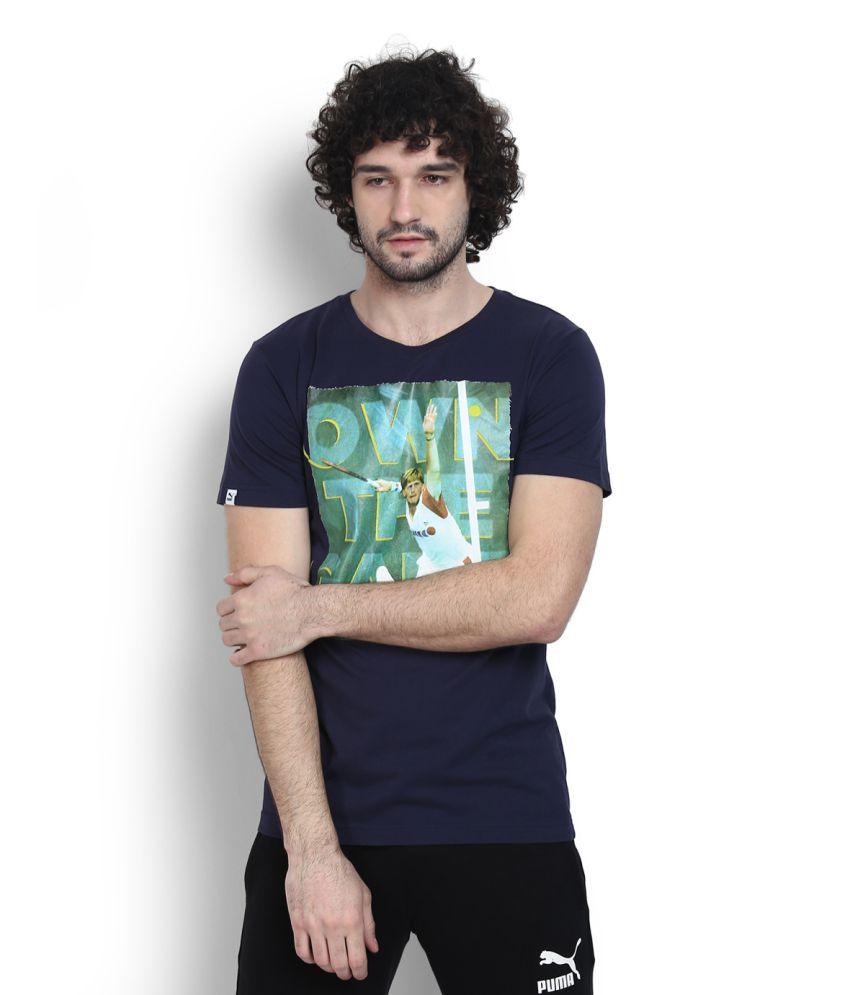 Puma Navy Round T-Shirt