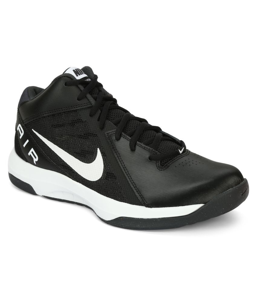 bc2d5b17c3a Nike THE AIR OVERPLAY IX Black Basketball Shoes - Buy Nike THE AIR OVERPLAY  IX Black Basketball Shoes Online at Best Prices in India on Snapdeal