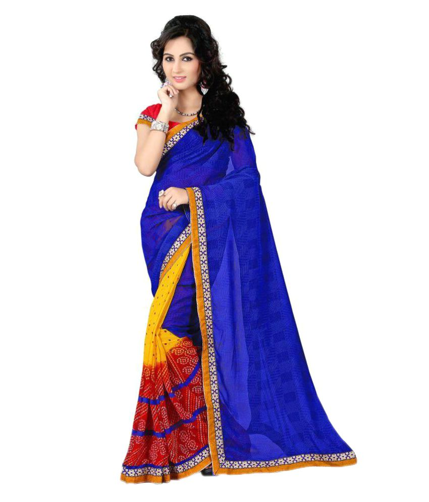 Aryan Silk Mills Multicoloured Georgette Saree