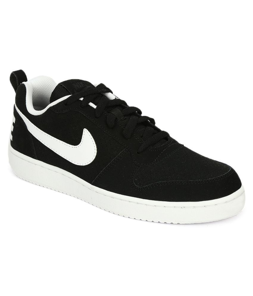 cheap for discount d07a4 ec4c9 Nike COURT BOROUGH LOW Black Casual Shoes - Buy Nike COURT BOROUGH LOW Black  Casual Shoes Online at Best Prices in India on Snapdeal